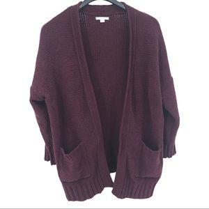 AE Chunky Knit Longline Open Cardigan Sweater Sz M
